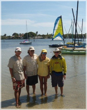Sunfish and WindRider 17 and small sailboat sailing lessons