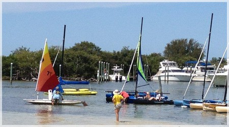Various Boats at Bimini Bay Sailing